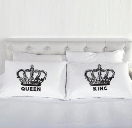 King and Queen Pillow Cases