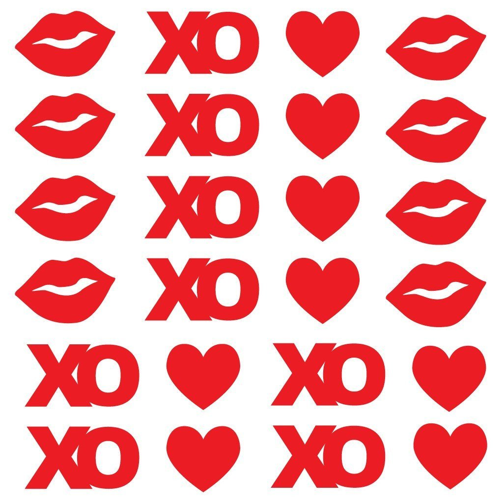 Hearts, Kisses, and XO's Valentine's Day Pathway Markers - FREE SHIPPING
