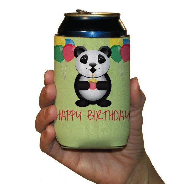 Happy Birthday Themed Can Cooler Set of 6 - FREE SHIPPING
