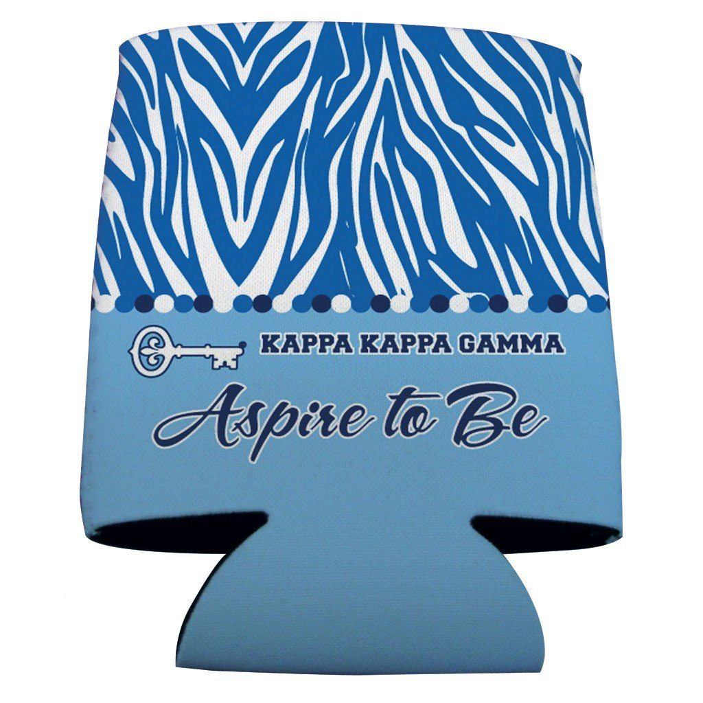 Kappa Kappa Gamma Can Cooler Set of 12 - Zebra Print FREE SHIPPING