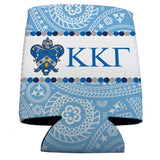 Kappa Kappa Gamma Can Cooler Set of 12 - Paisley Print Design