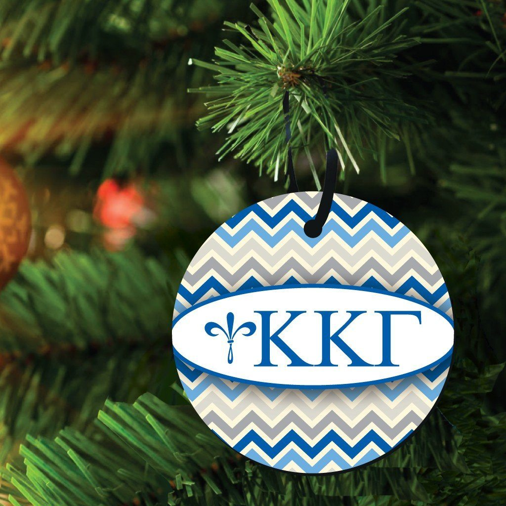 Kappa Kappa Gamma Ornament - Set of 3 Circle Shapes - FREE SHIPPING
