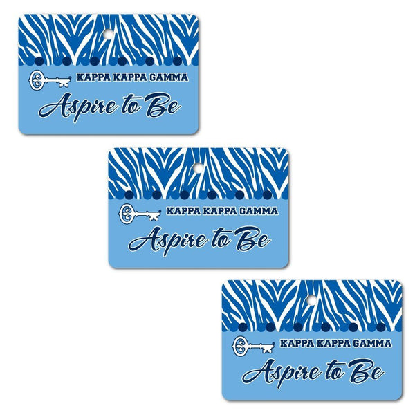 Kappa Kappa Gamma Ornament - Set of 3 Rectangle Shapes