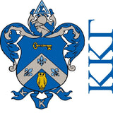 "Kappa Kappa Gamma Coat of Arms Standard T-Shirt "" White, Light Blue, &"