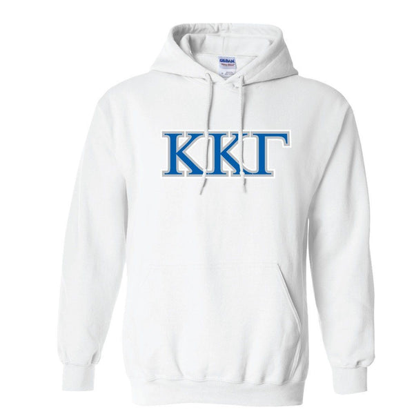 "Kappa Kappa Gamma Hooded Sweatshirt "" White & Sport Gray"