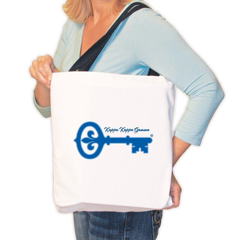 Kappa Kappa Gamma Canvas Tote Bag - Kappa Kappa Gamma and Key
