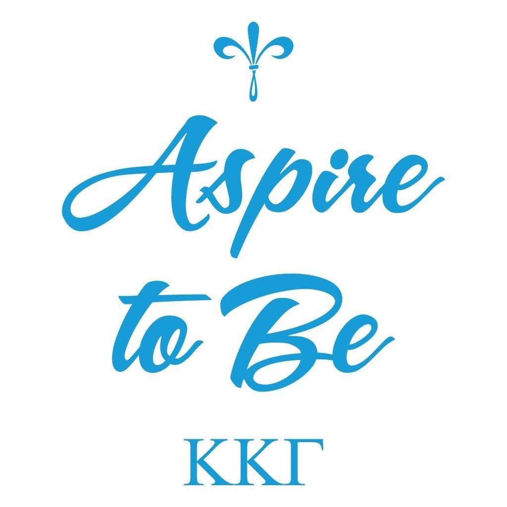 Kappa Kappa Gamma Canvas Tote Bag - Aspire to Be Design