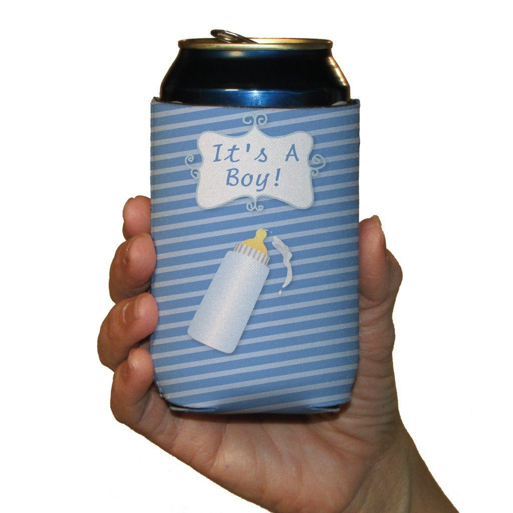 New Baby It's A Boy Can Cooler Set of 6 - 6 Designs - FREE SHIPPING