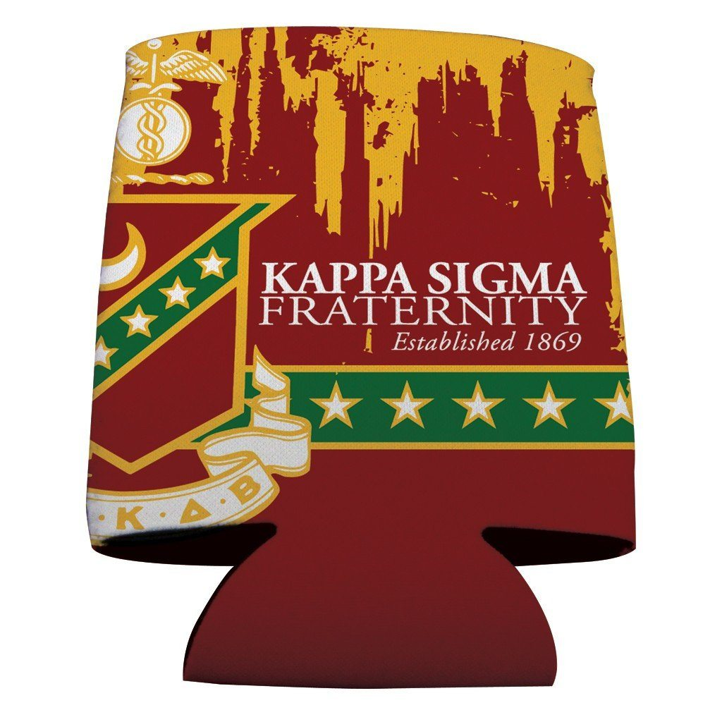 Kappa Sigma Can Cooler Set of 12 - Grunge Design FREE SHIPPING