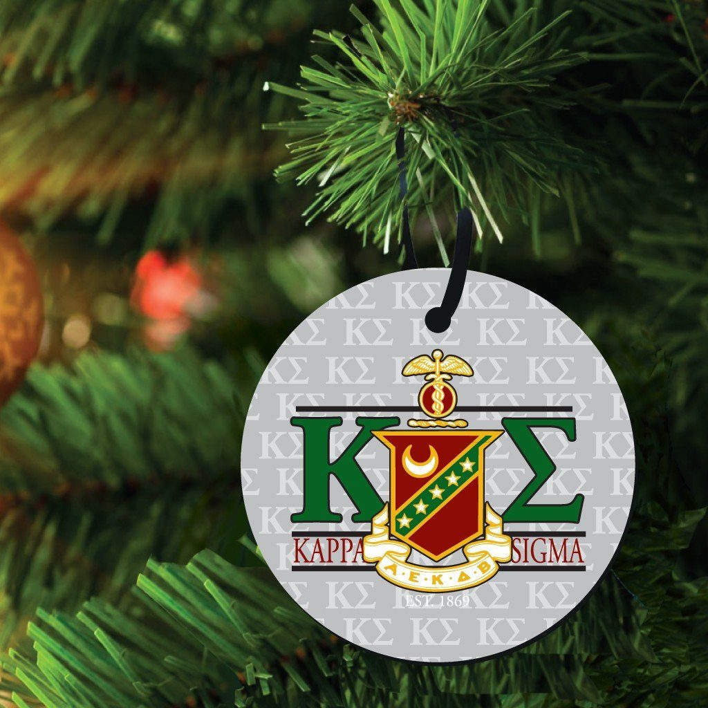 Kappa Sigma Ornament - Set of 3 Circle Shapes - FREE SHIPPING