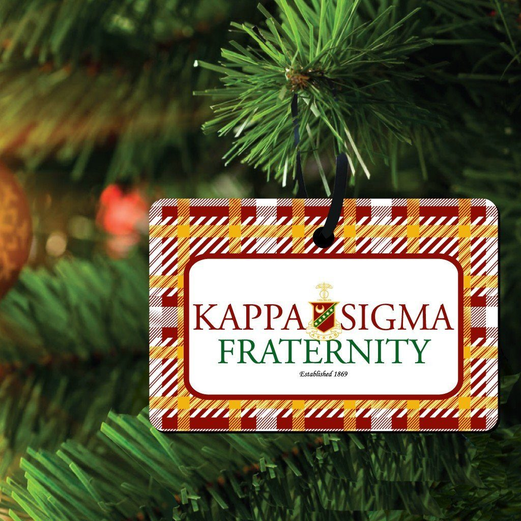 Kappa Sigma Ornament - Set of 3 Rectangle Shapes - FREE SHIPPING
