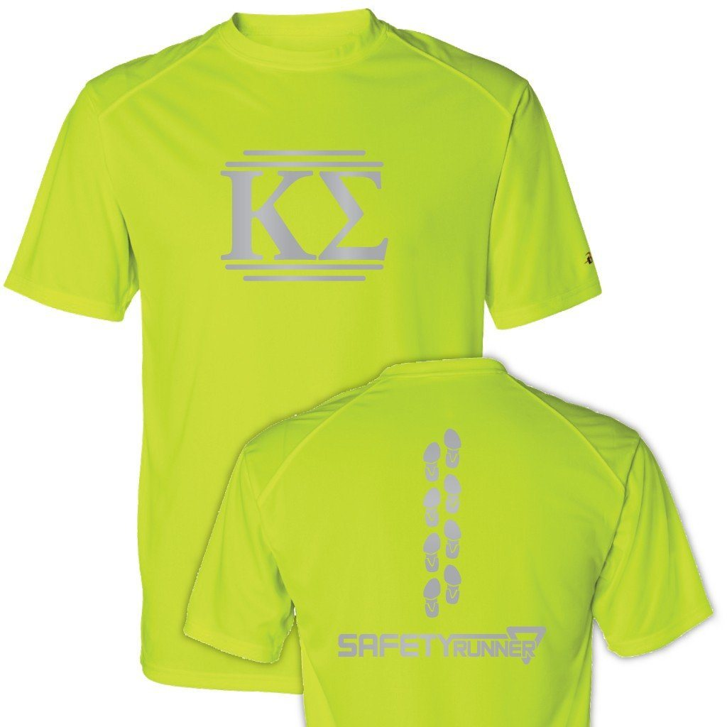 "Kappa Sigma Men's SafetyRunner Performance T-Shirt "" Safety Orange or"