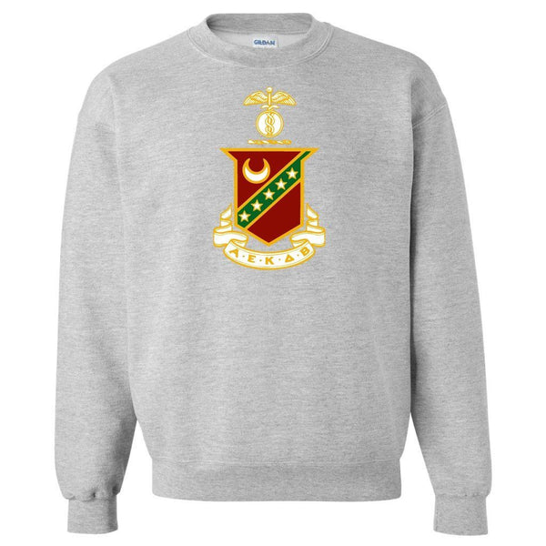 Kappa Sigma Sport Gray Crewneck Sweatshirt Coat of Arms Design