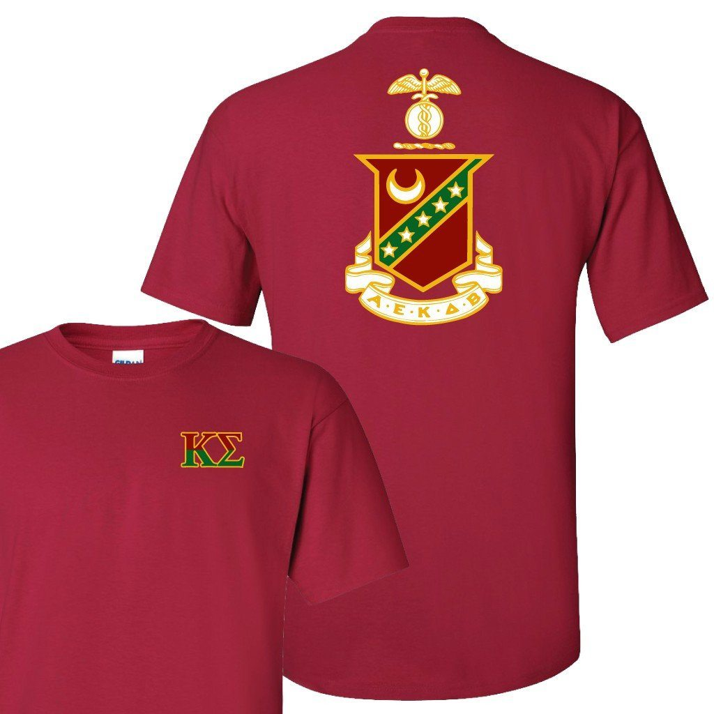 Kappa Sigma Standard T-Shirt - Crest Design on Back - FREE SHIPPING