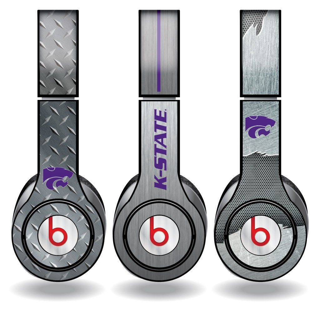 "Kansas State Skins for Beats Solo HD Headphones "" Set of 3 Metal"