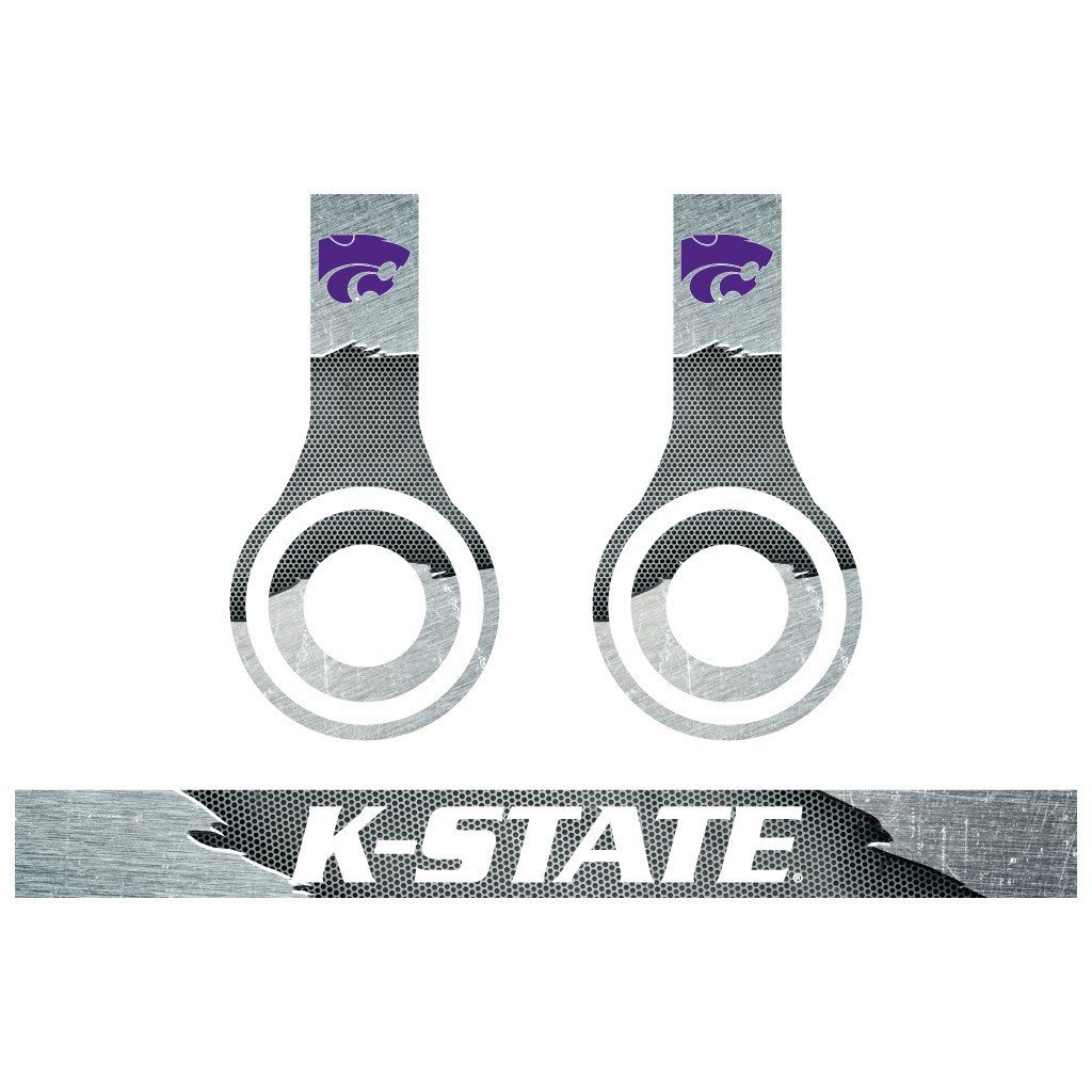 Kansas State Skins for Beats Solo HD Headphones Set of 3 Metal - FREE SHIPPING