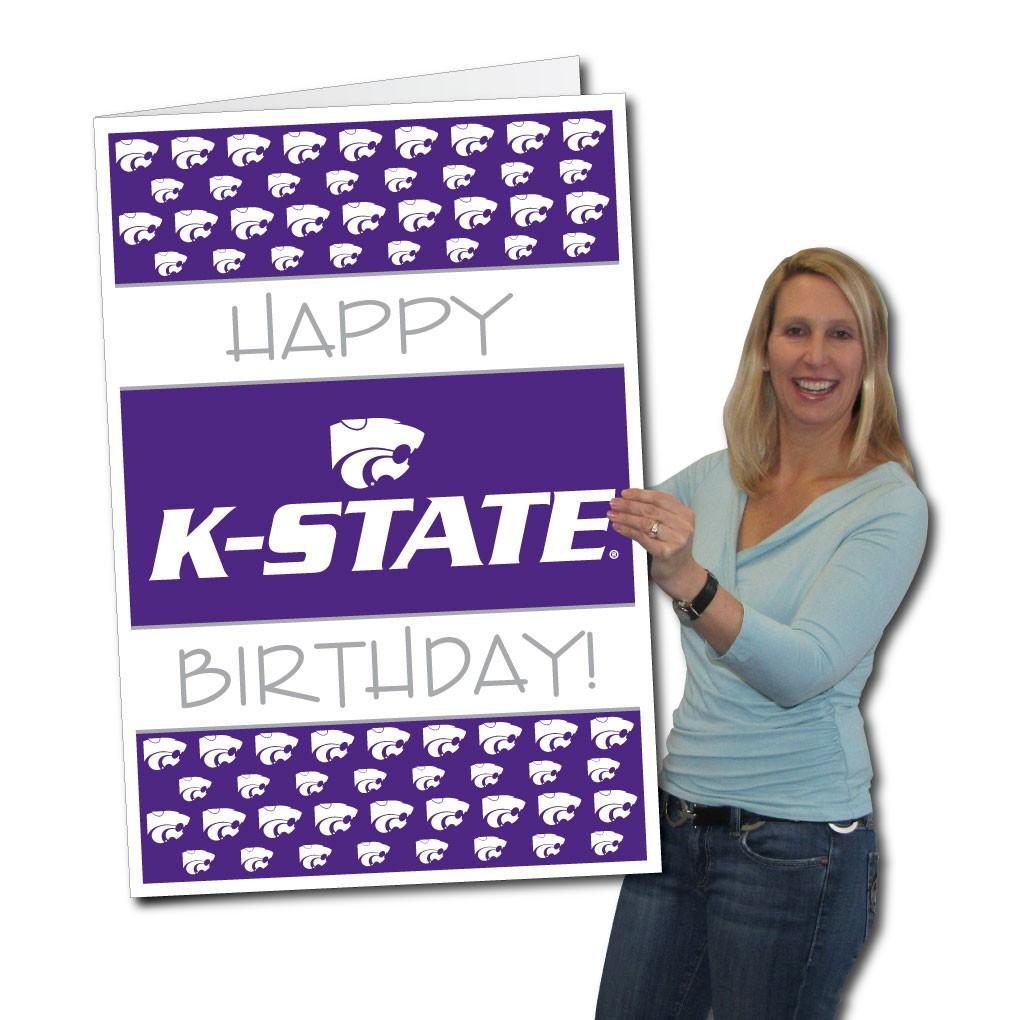 Kansas State University 2'x3' Giant Birthday Greeting Card Plus a Bonus Yard Sign! - FREE SHIPPING
