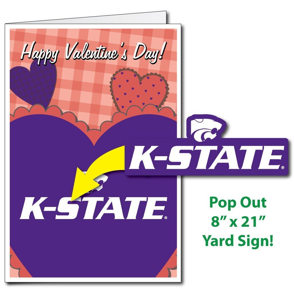 A Kansas State University Valentine's day card