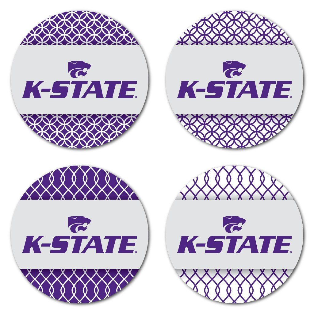 Kansas State University Patterned Coaster Set of 4 - FREE SHIPPING