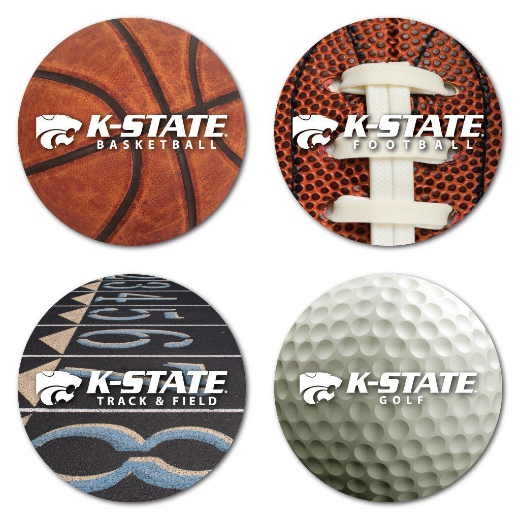Kansas State University Sports Design Coaster Set of 4 - FREE SHIPPING