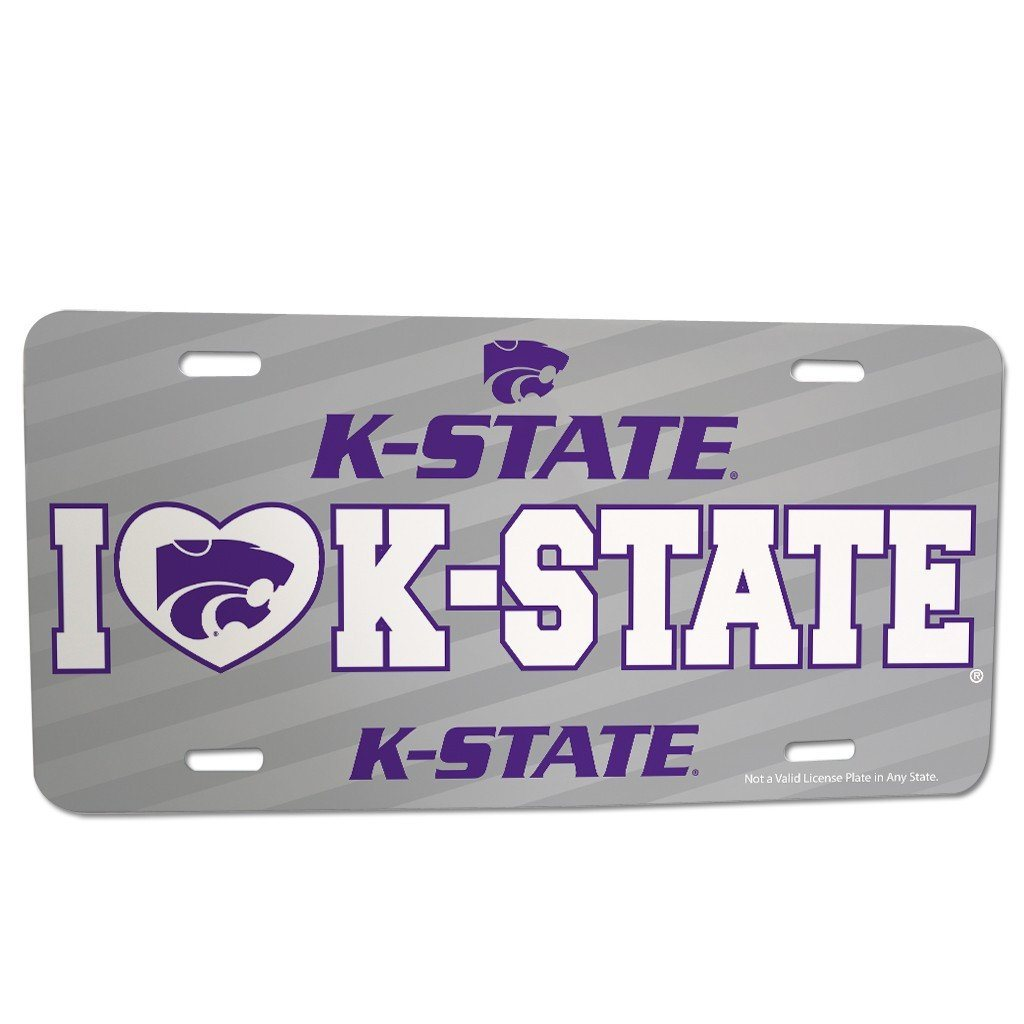 Kansas State University - License Plate - I Love K-State