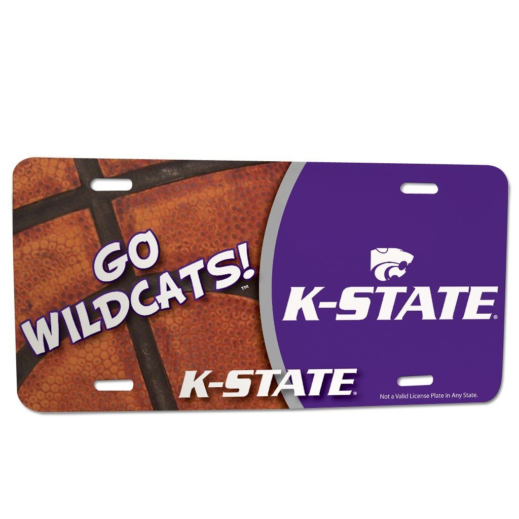 Kansas State University - License Plate - Basketball Design