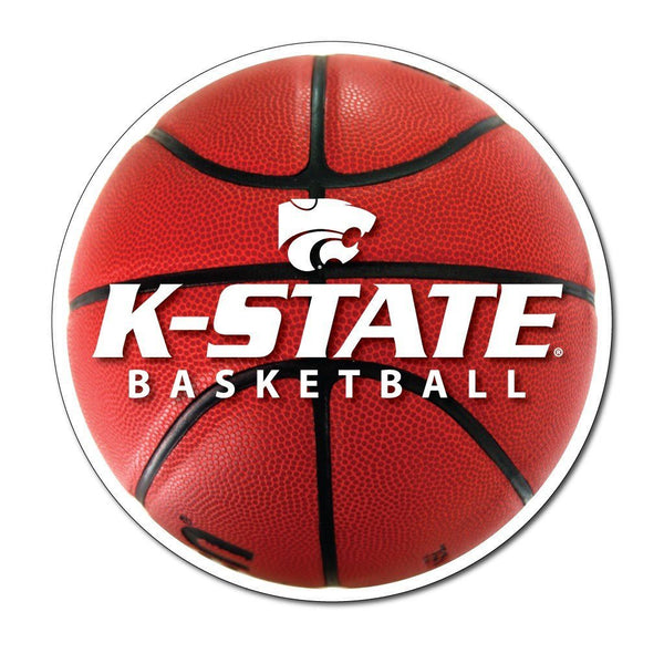 "Kansas State "" Basketball Shaped Magnet"