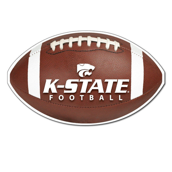 "Kansas State "" Football Shaped Magnet"