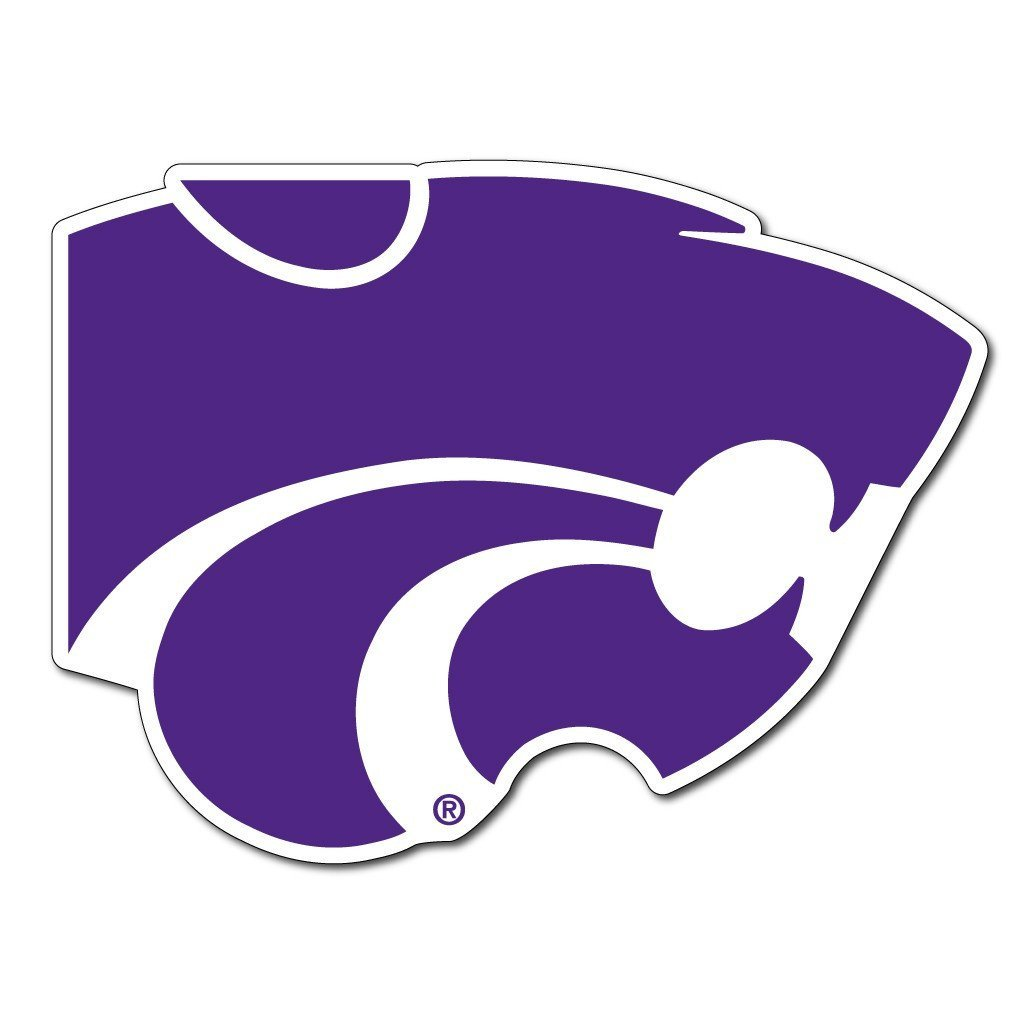 "Kansas State "" Wildcat Shaped Magnet"