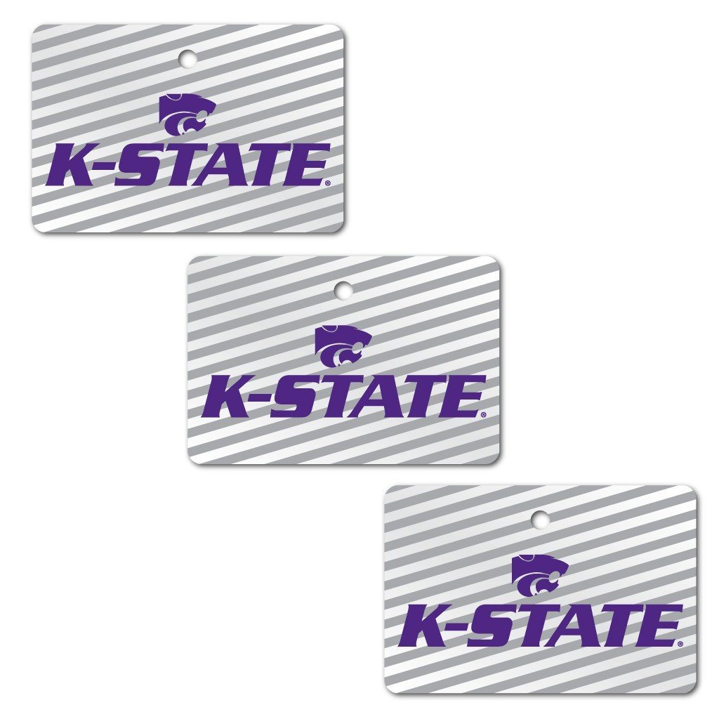 Kansas State University Ornament - Set of 3 Rectangle Shapes - FREE SHIPPING