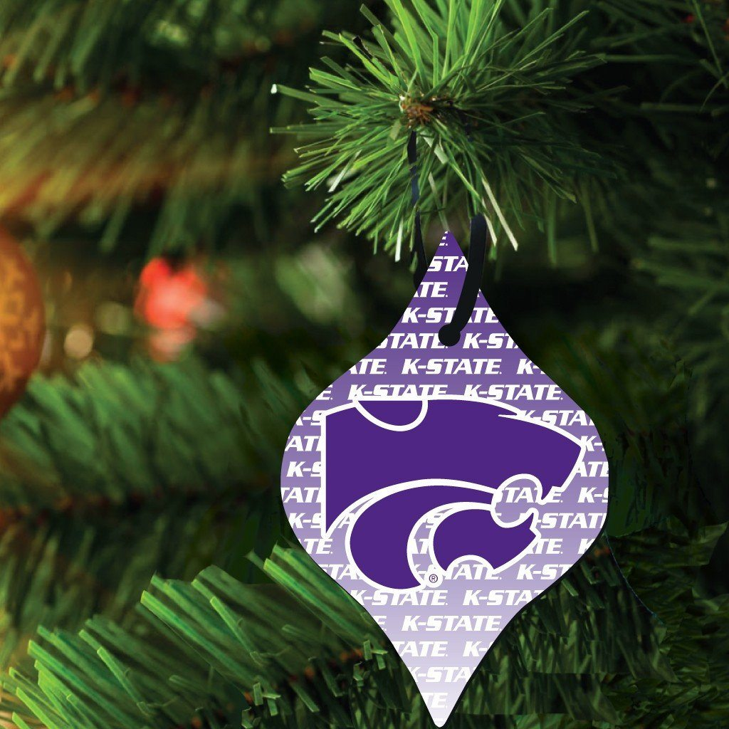 Kansas State University Ornament Set of 3 Shapes; Circle, Rectangle,