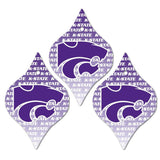 Kansas State University Ornament - Set of 3 Tapered Shapes