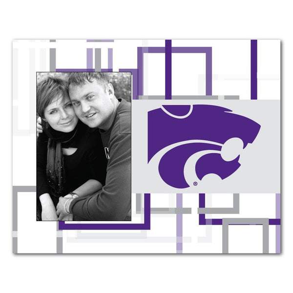 "Kansas State University Picture Frame "" Squares Design"