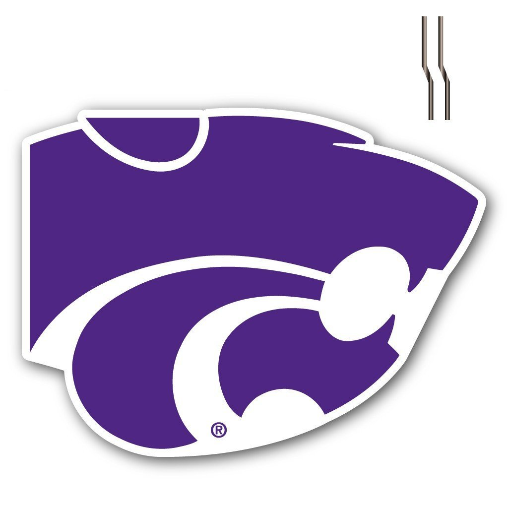 Kansas State University Shaped Plastic Yard Sign - FREE SHIPPING