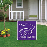 "Kansas State University Square Shaped Plastic Yard Sign "" w/ 2 E-Z Stakes """