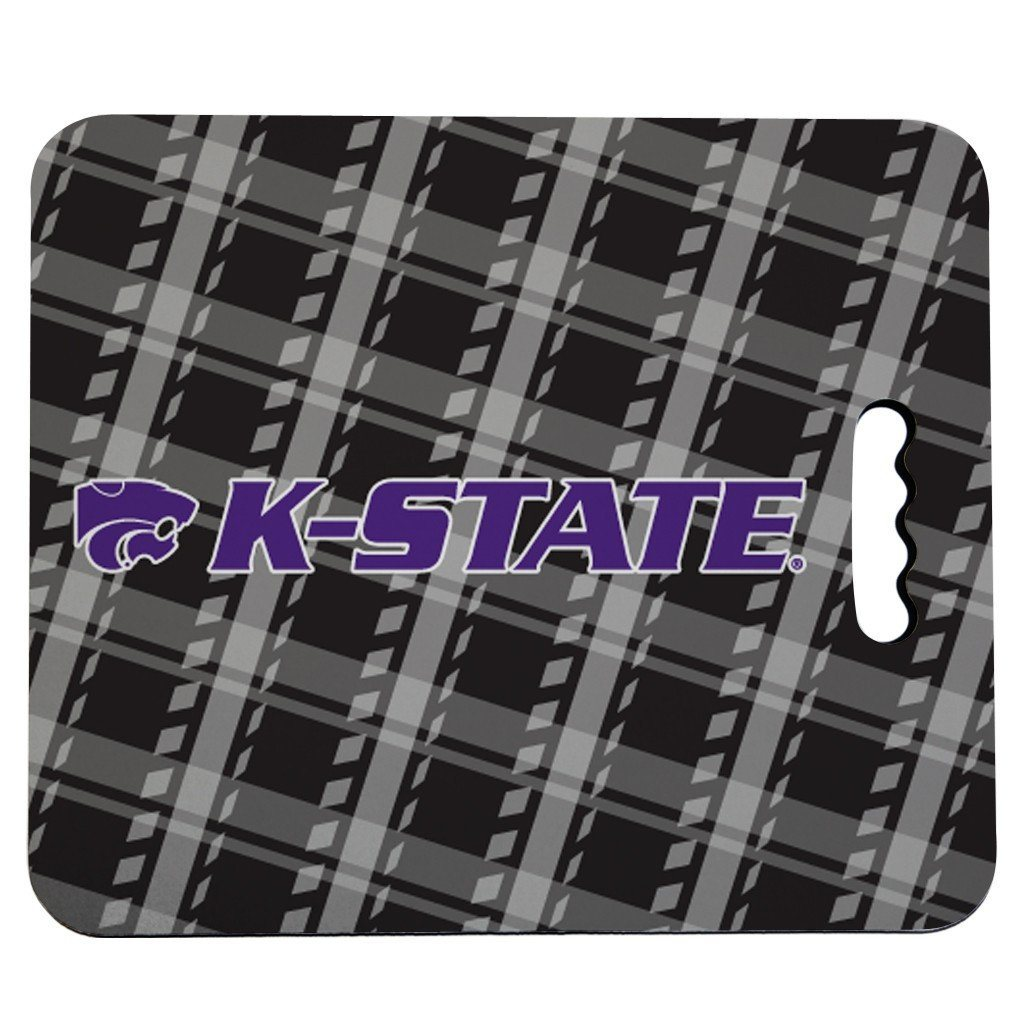 Kansas State University Stadium Seat Cushion - Plaid Design