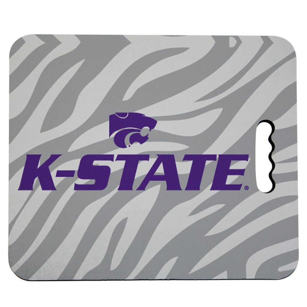 Kansas State University Stadium Seat Cushion - Zebra Print Design
