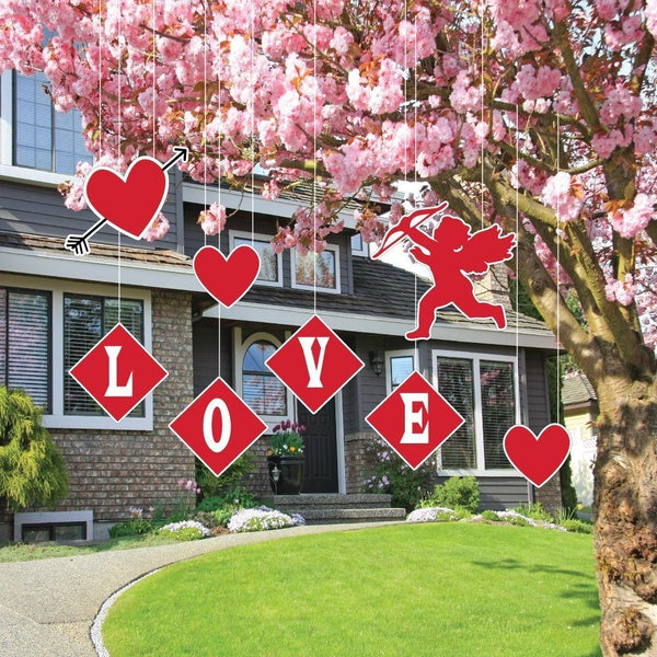 Valentine's Day Yard Decoration - Hanging - Cupid, Hearts, and Love