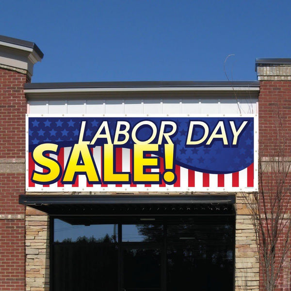 Labor Day Sale! Vinyl Banner with Grommets