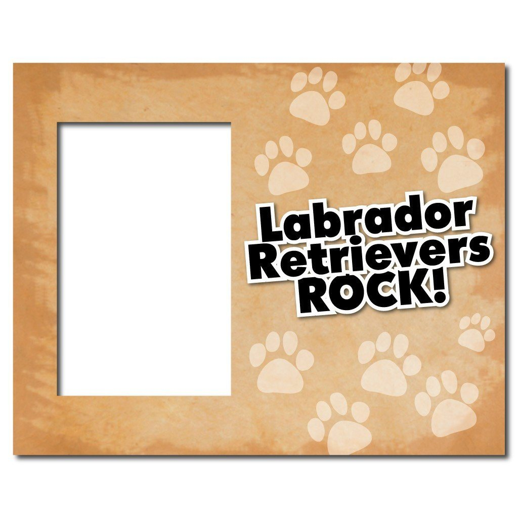 "A picture frame that says ""Labrador Retrievers Rock!"""