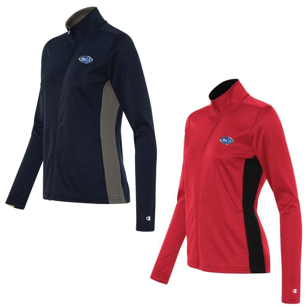 WCI Embroidered Ladies Champion Colorblocked Performance Full-Zip Sweatshirt