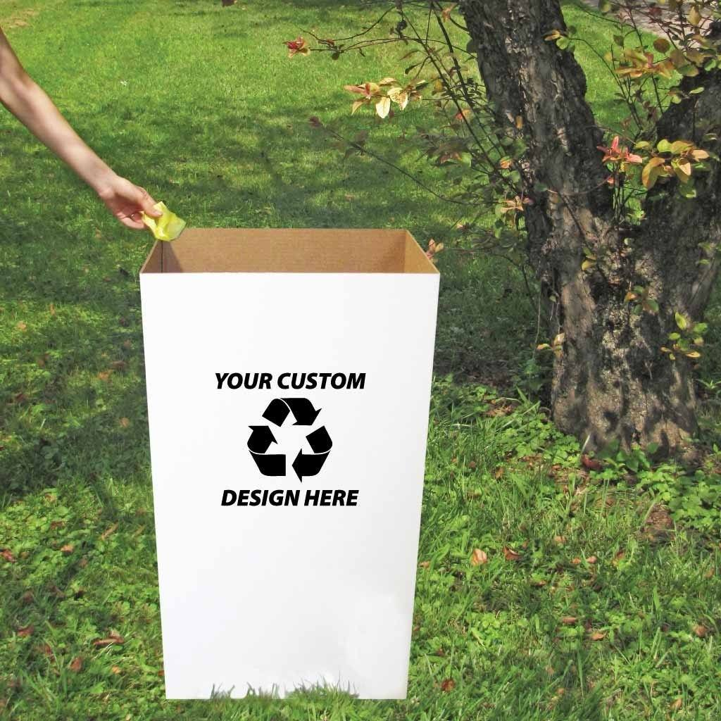 Customized Disposable Recyclable Cardboard Trash Cans
