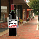 Wine Bottle Larger than Life Size Stand Up Cutout