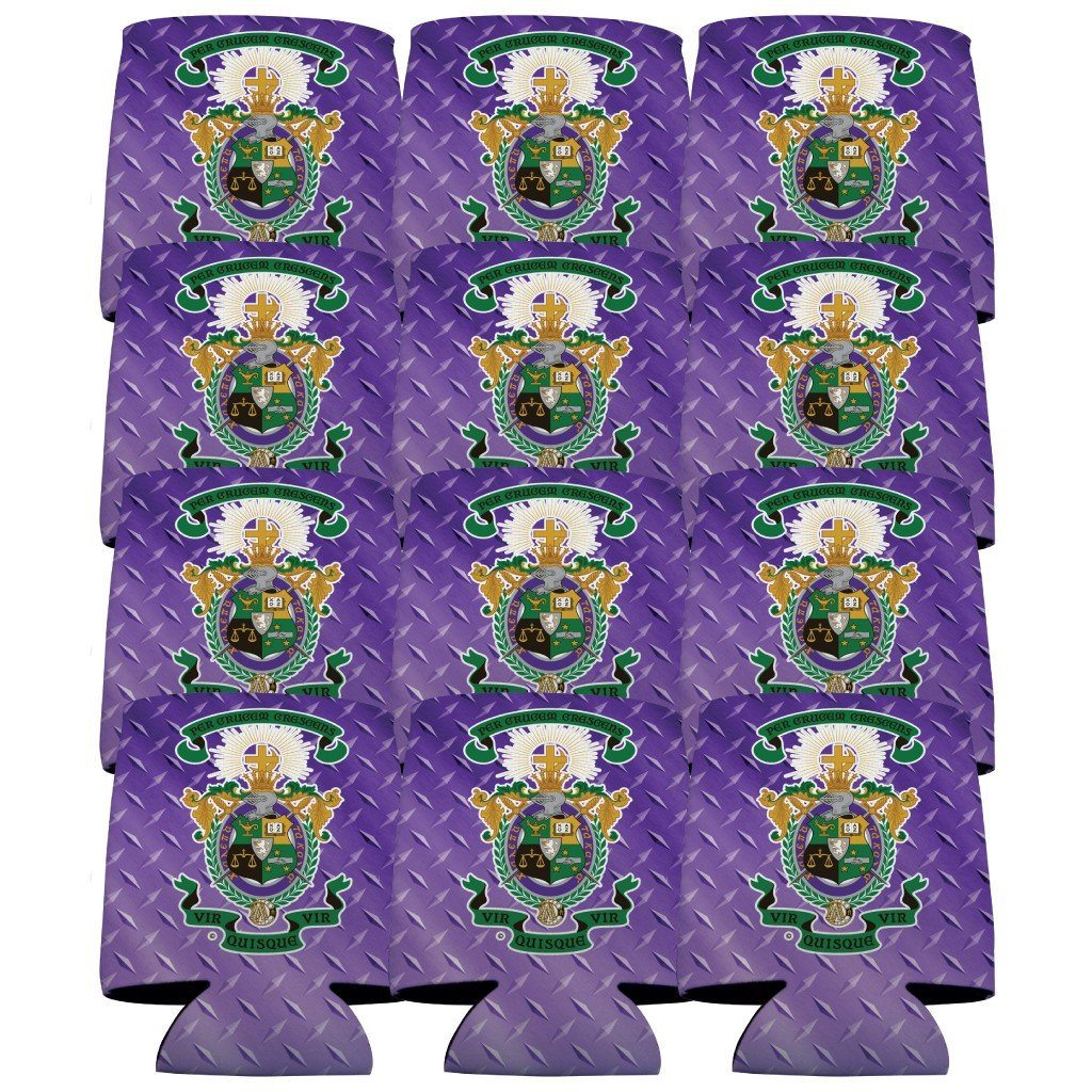Lambda Chi Alpha Can Cooler Set of 12 - Crest - FREE SHIPPING