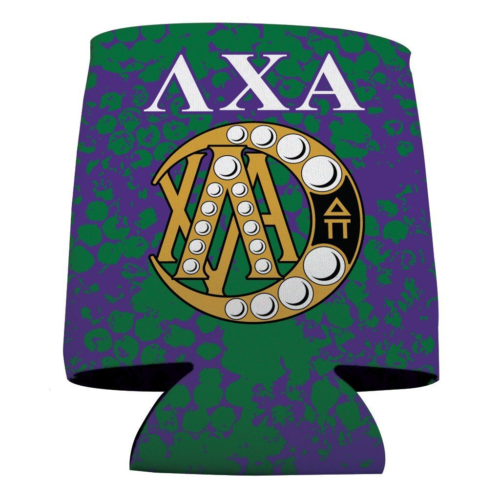 Lambda Chi Alpha Can Cooler Set of 12 - AXA Grunge - FREE SHIPPING
