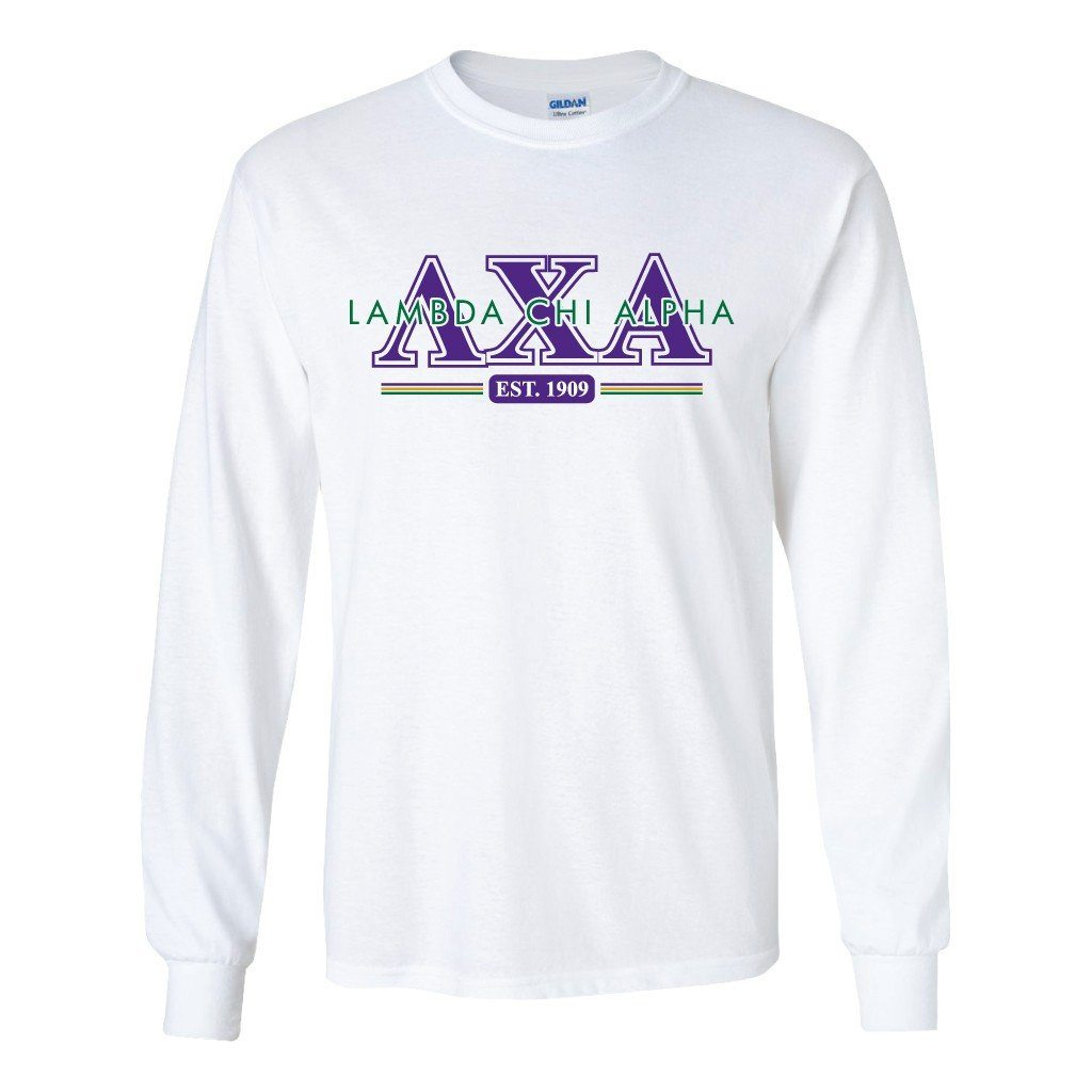 "Lambda Chi Alpha Long Sleeve T-Shirt ""Est. 1909"" - FREE SHIPPING"