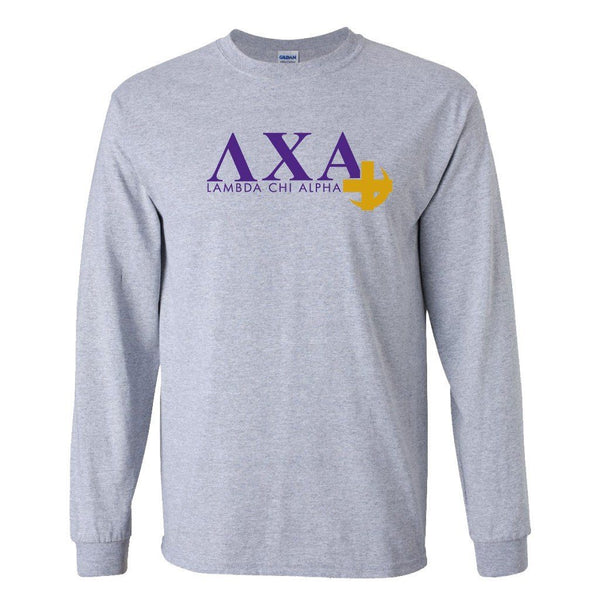 Lambda Chi Alpha Long Sleeve T-shirt Cross and Crescent Logo Design ""