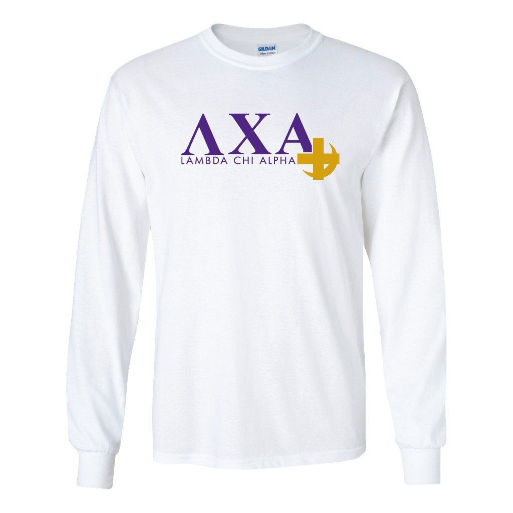 Lambda Chi Alpha Long Sleeve T-shirt Cross and Crescent Logo - FREE SHIPPING