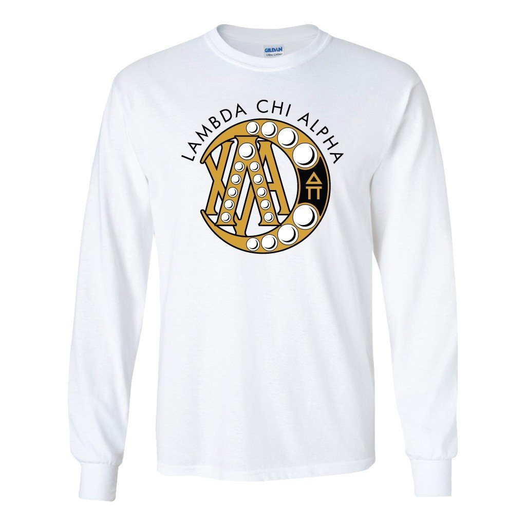 Lambda Chi Alpha Long Sleeve T-shirt Badge - FREE SHIPPING