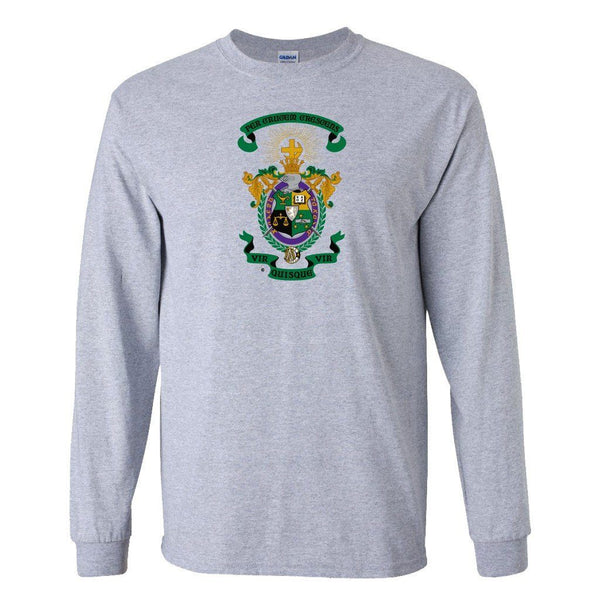 "Lambda Chi Alpha Long Sleeve T-shirt Coat of Arms Design "" White &"